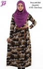 New Army Print Lycra Long Dress A783 for April 2014