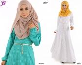 New Atiqah Polkadot Print Princess Jubah E360 for June 2015