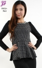 New Checkered Peplum Top D902 for Dec 2012