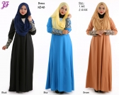 New Color Block Jubah Dress N348 for Nov 2014