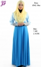 New Color Block Jubah Dress with Lace Embroidery U342 for Aug 2014