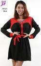 New Color Block Peplum Dress T3025 for April 2013 - part 2