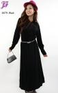 New Cotton Collar Peplum Dress D679 for Dec 2012