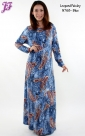 New Cotton Leopard Paisley Long Dress N768 for Nov 2013