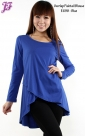 New Cotton Overlap Fishtail Blouse E698 for June 2013