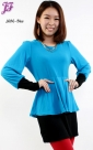 New Cotton Peplum Blouse with Mini Skirt J686 for Jan 2013