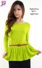 New Cotton Peplum Dress D677 for Dec 2012