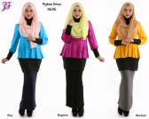 New Cotton Peplum Dress N686 for Nov 2014