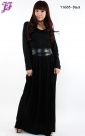 New Cotton Pleated Long Dress Y1688 for July 2013
