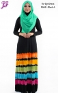 New Cotton Spandex Tie Dye Long Dress F668 for March 2014