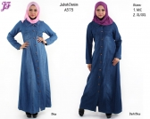 New Denim Jean Jubah Dress A575 for April 2014