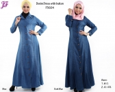 New Denim Jean Jubah Dress F5604 for March 2014