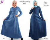 New Denim Jean Jubah Dress F563 for March 2014 - part 2