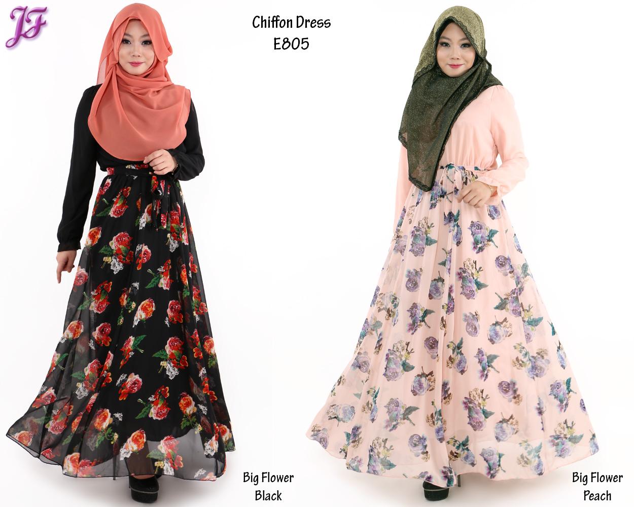 Printed Chiffon Dresses