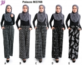 New Evelyn Printed Palazzo with pocket M374B
