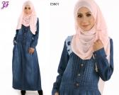 New Haniza Denim Jean Jubah Dress E5801 for June 2015