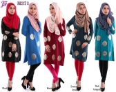 New Jovina Top with Gold Heat Press Patch M371 for Feb 2016