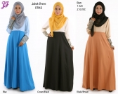 New Jubah Dress with Front Zipped  D342 for Dec 2014
