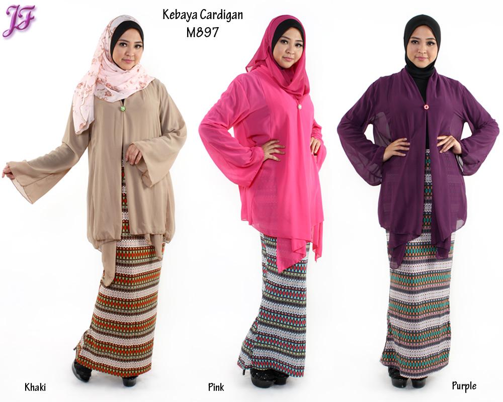 New Kebaya Chiffon Cardigan M897 for Aug 2014 | | JF Fashion