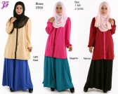 New Color Block Blouses  D350 for Jan 2015