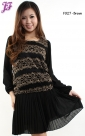 New Lace Chiffon Peplum Dress F927 for Feb 2013