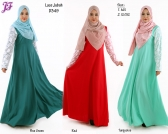 New Lace Jubah Dress D349 for Dec 2014