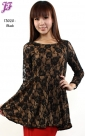 New Lace Peplum Top T3020 for March 2013