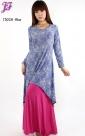 New Lace Print Asymmetric Dress T3028 for April 2013