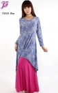 New Lace Print Asymmetric Dress T3028 for April 2013