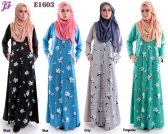 New Laylaa Jubah With Flower Printed E1603