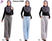 New Lily Palazzo Checkered Pant S385
