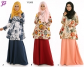 New Lily Printed Top Y1009 for Aug 2015