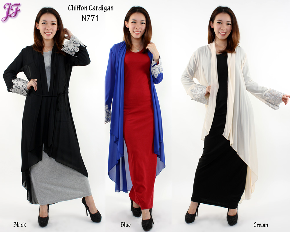 New Long Chiffon Cardigan N771 and Knitted Cardigan N008 for Nov ...