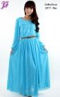 New Long Chiffon Dress U877 for Aug 2013