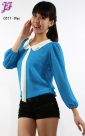 New Long Sleeve Chiffon Blouse C811 for Oct 2012
