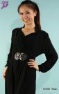 New Long Sleeve Lycra Maxi Dress A2092 - part 1