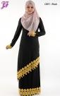 New Lycra Embroidered Kurung Dress C881 for Oct 2013