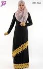 New Lycra Embroidered Kurung Dress C881 for Oct 2013
