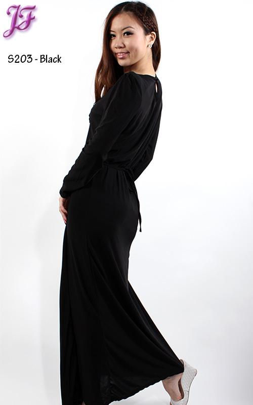 Black lycra longdress