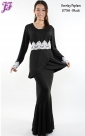 New Lycra Overlap Peplum Dress U756 for Sept 2013