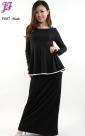 New Lycra Peplum Dress F687 for Feb 2013
