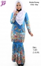 New Lycra Printed Kurung Modern Y332 for July 2014