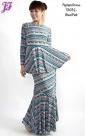New Lycra Tribal Peplum Dress T3032 for June 2013