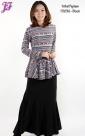 New Lycra Tribal Peplum Dress T3036 for July 2013