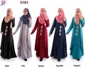 New Merissa Jubah with Gold Heat Press Patch E381