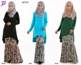 New Mira Cotton Overlap Fishtail with Paisley Skirt M5759 for June 2015