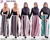 New Olivia Chiffon Stripes Skirt S384