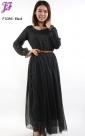 New Polka Dot Chiffon Dress F1086 for Feb 2013
