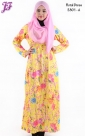 New Printed Cotton Long Dress E801 for July 2014