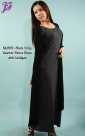 New Quarter Sleeve Dress with Long Cardigan ML889